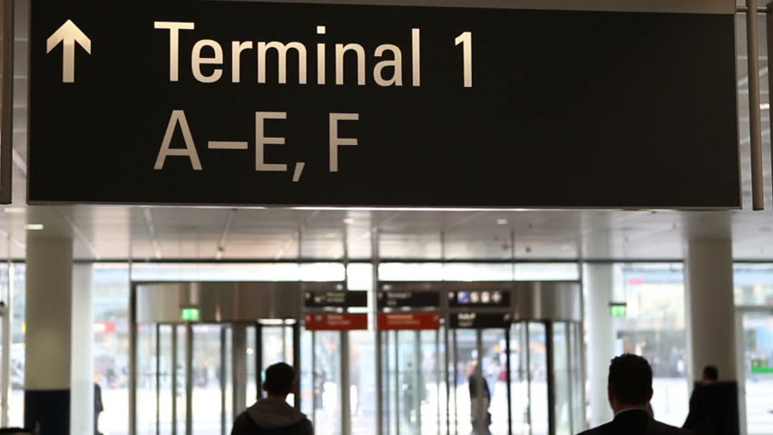 Terminal Sign at the airport