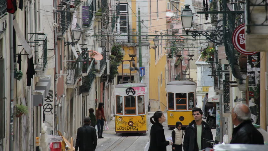 Lisbon, Portugal - September 10th, 2012:Famous tram 28 in Lisbon