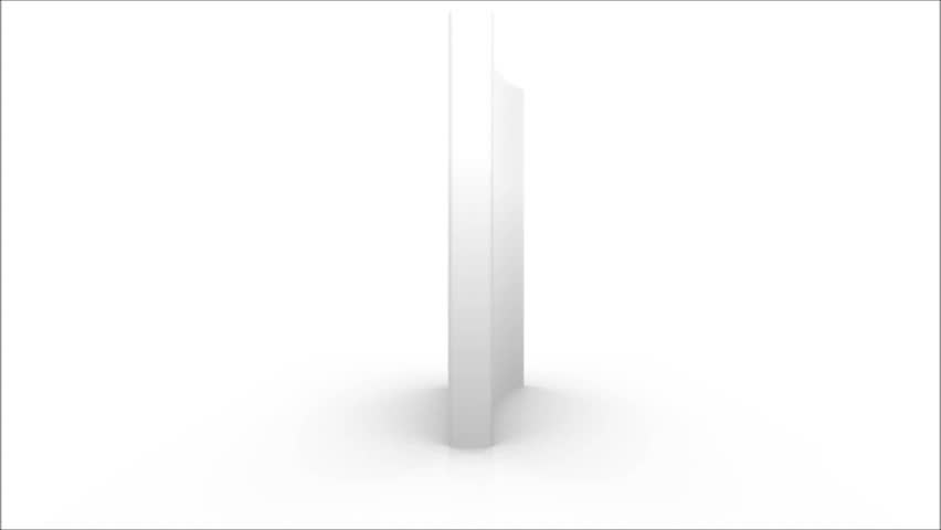 3d rendering of a white paperback opened, rotating on a white background | Shutterstock HD Video #4797197