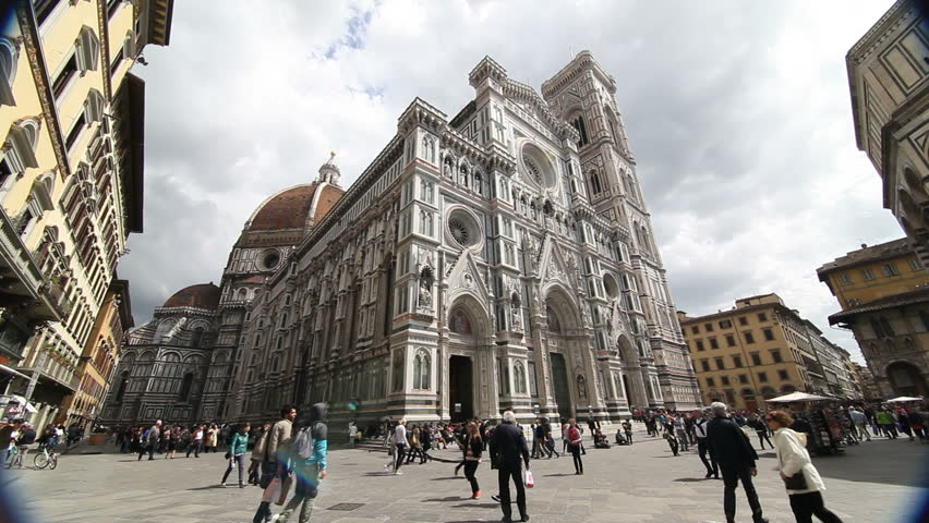 Florence, Italy - April 18th, 2013: The Duomo Cathedral in Florence