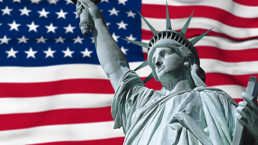 Statue of Liberty with Us Stock Footage Video (100% Royalty-free) 479911 |  Shutterstock
