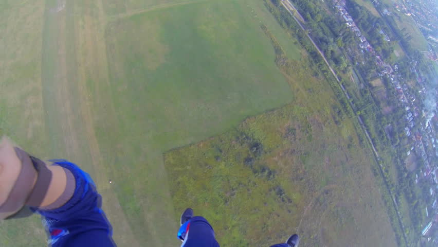 Video parachute jumps (skydiving) from a first-person | Shutterstock HD Video #4804382