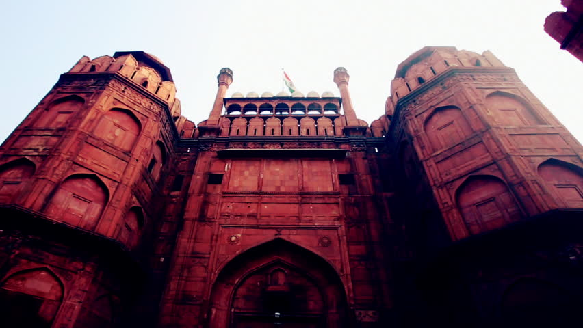 Pan shot of a fort, Red Fort, Delhi, India