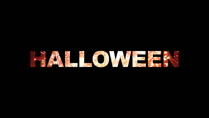 Halloween typo reveal by fireworks with alpha channel   Shutterstock HD Video #4811753