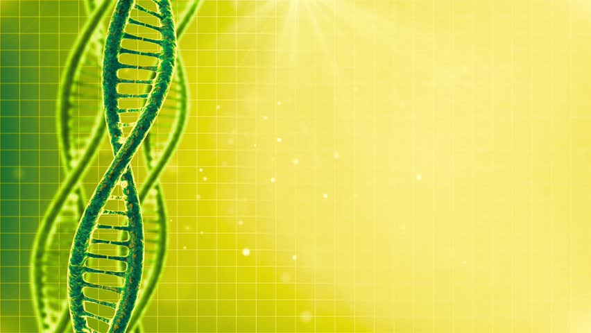 Cyclical background with rotating DNA cells ,
