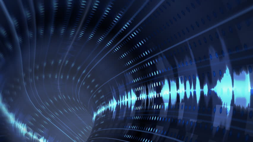 Animated wormhole with sci-fi waveform loop