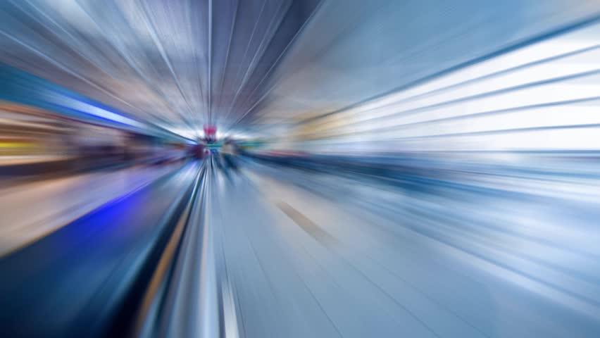 Blurred motion movement in futuristic airport terminal. Timelapse. | Shutterstock HD Video #4841816