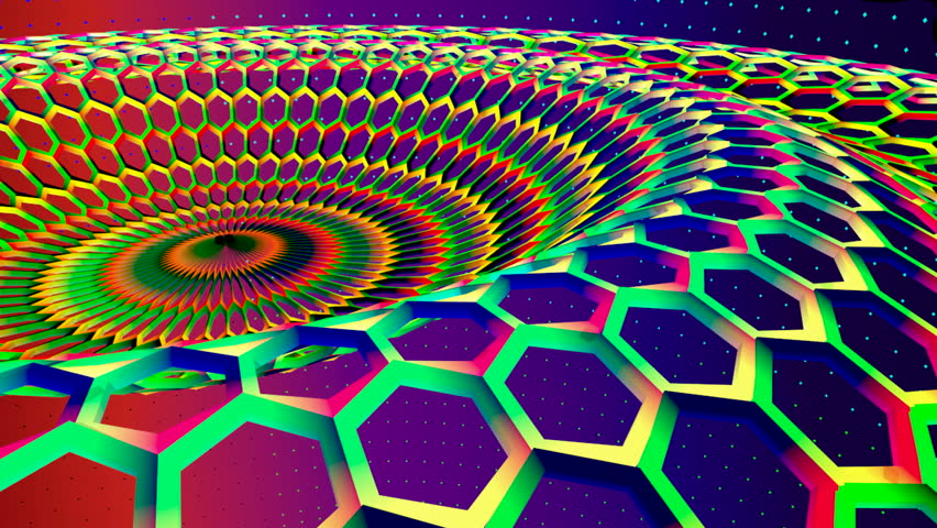 Periodic abstract honeycomb background