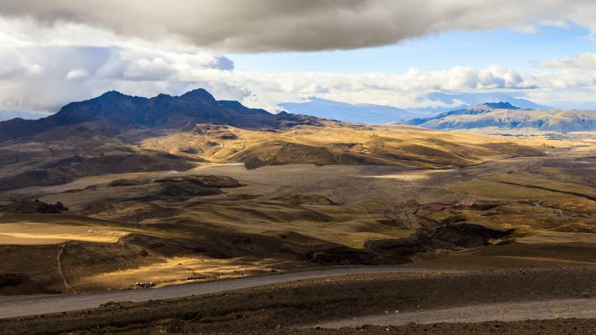 Pasochoa volcano, Ecuadorian Andes, viewed from Cotopaxi refugee, 4800m altitude.