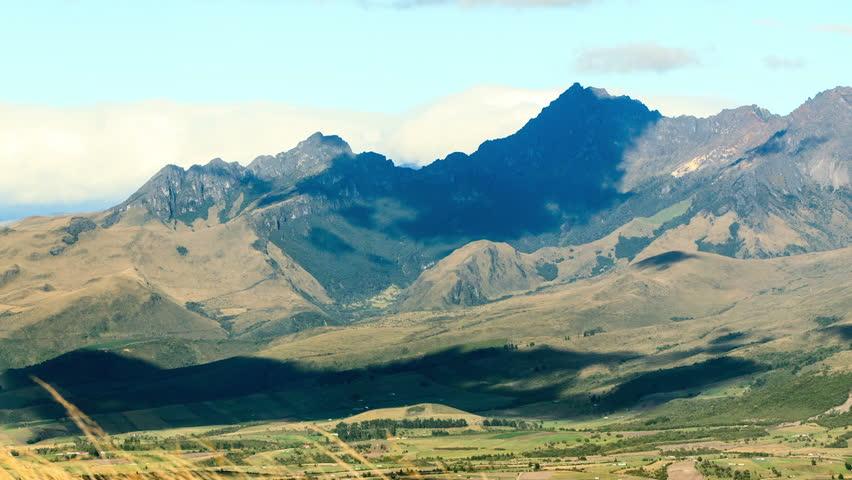 Pasochoa volcano, Ecuadorian Andes, viewed from Ilinizas volcano refugee, time lapse.