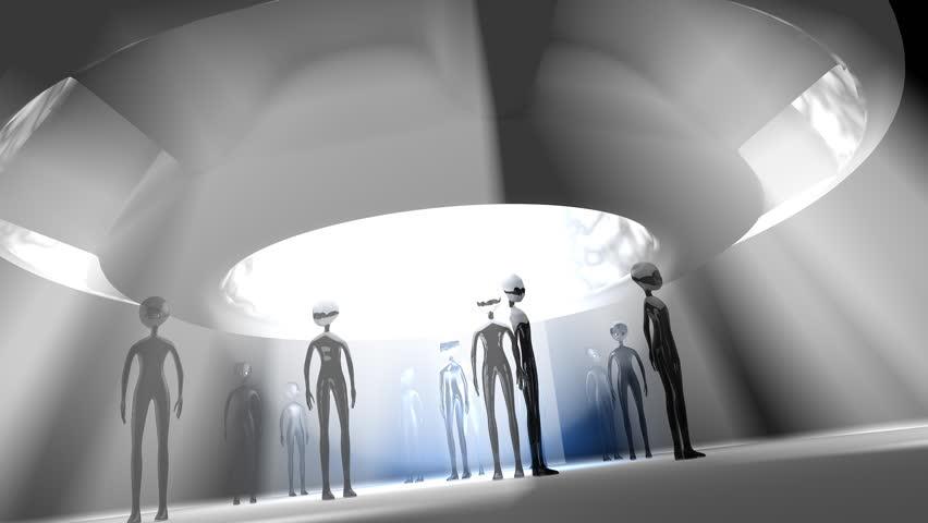 Artist rendering, Alien encounter.