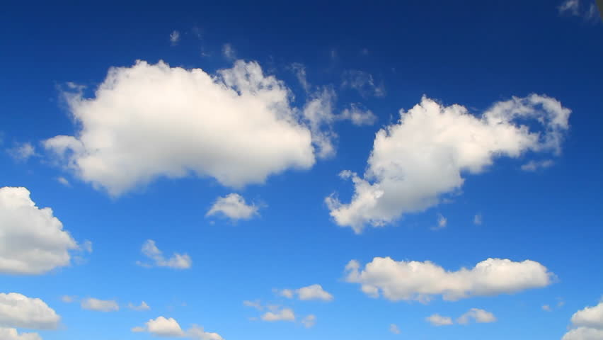 Photographing the sky with cumulus clouds flying on a sunny day with strong wind | Shutterstock HD Video #4881734
