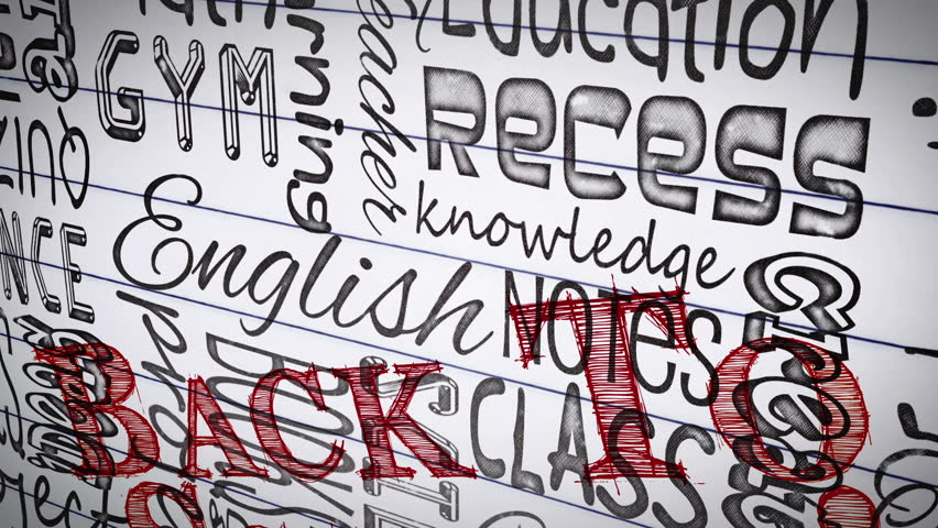Animation of education terms appearing on a paper   Shutterstock HD Video #4883540