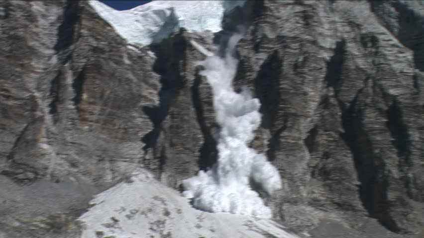 Avalanche at basecamp