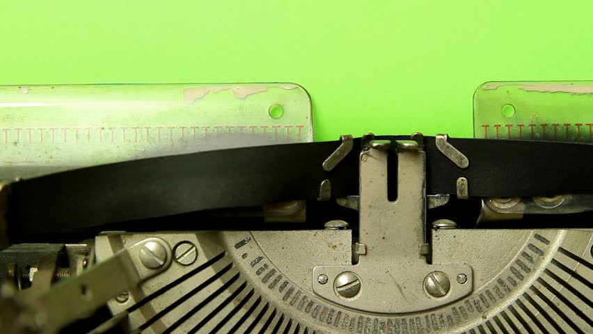 Close up typewriter type blank sign on green screen paper | Shutterstock HD Video #4889453