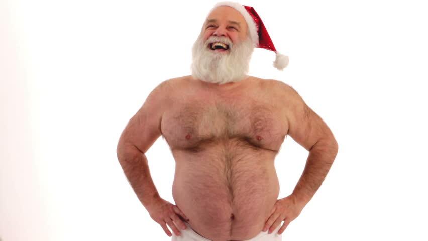 Muscular santa claus stock image. Image of christmas