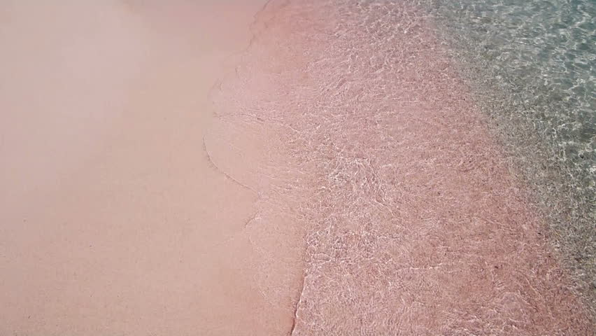 The famous pink sand of Elafonisi Beach, Crete, Greece