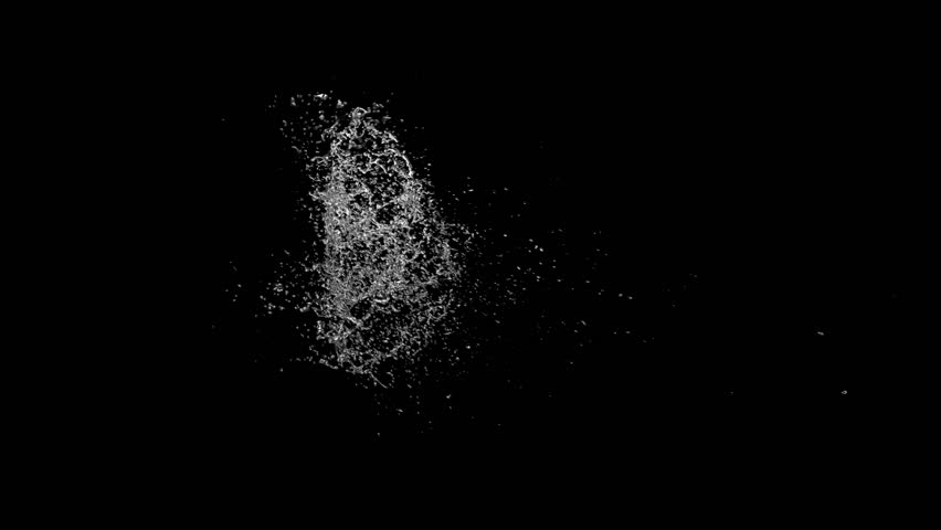 Water splashing in slow motion. Alpha matte included. Lateral view. See more options in my portfolio.   | Shutterstock HD Video #4896851