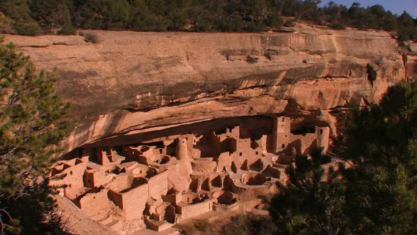 American Indian dwellings at Mesa Verde National Park in Colorado.