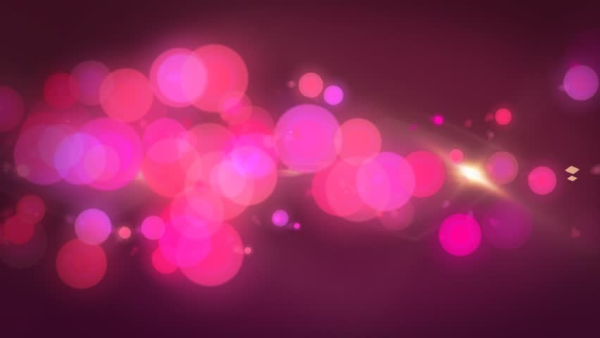 Hot Pink Bokeh Abstract Motion Background