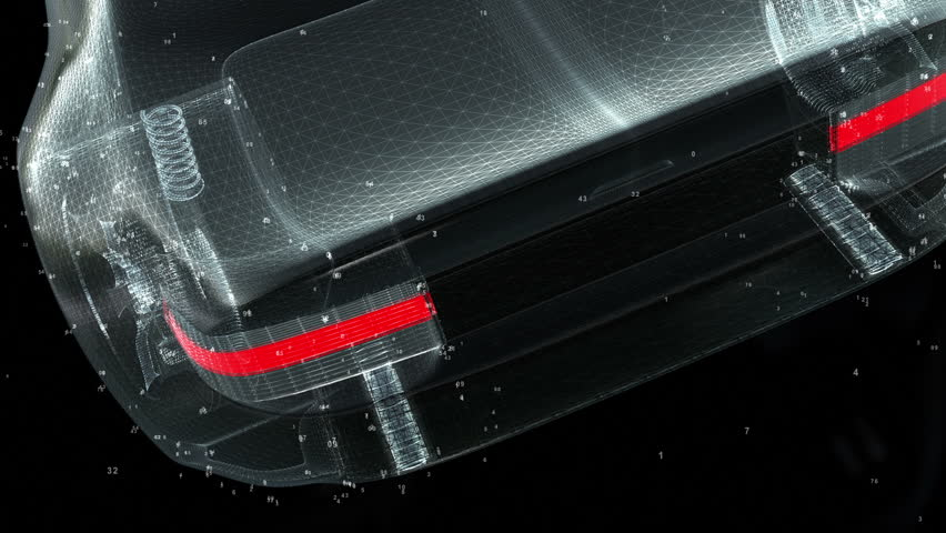 Concept Car Technology wireframe | Shutterstock HD Video #4907672