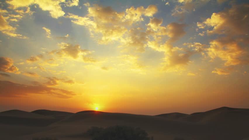 sunrise in Tar desert India - timelapse #4908545