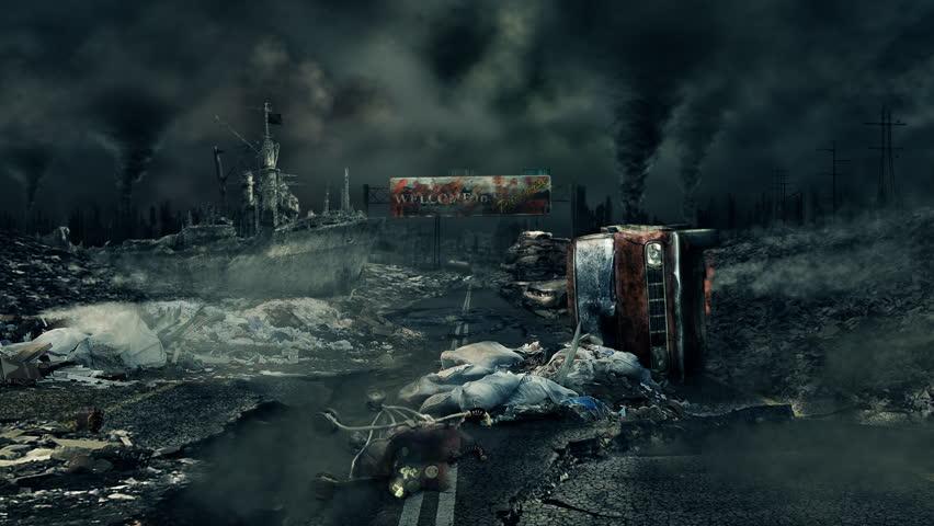 Post apocalyptic scene.