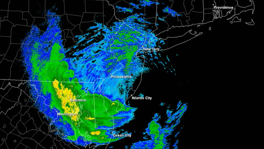 Hurricane Sandy (2012) Doppler Radar Landfall Time Lapse / loop. Created (in part) using archived NEXRAD Data from the National Weather Service which is not subject to copyright protection.