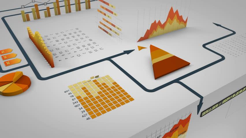 Arrow running on financial charts
