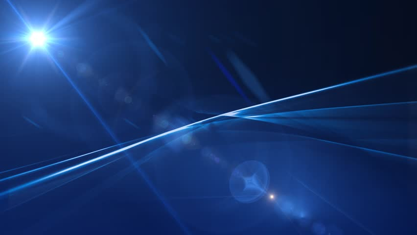 News Style Background - Blue Abstract Motion Background with Lines and Lens Flares #4937219