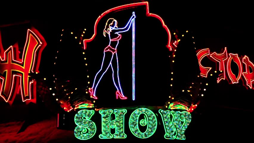 Strip show dance sign timelapse