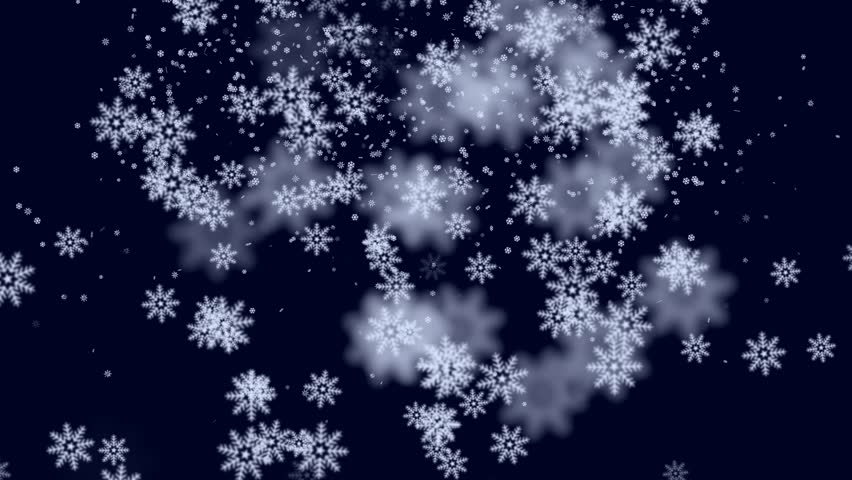 Falling Snow Flakes Animated Winter Background Loop