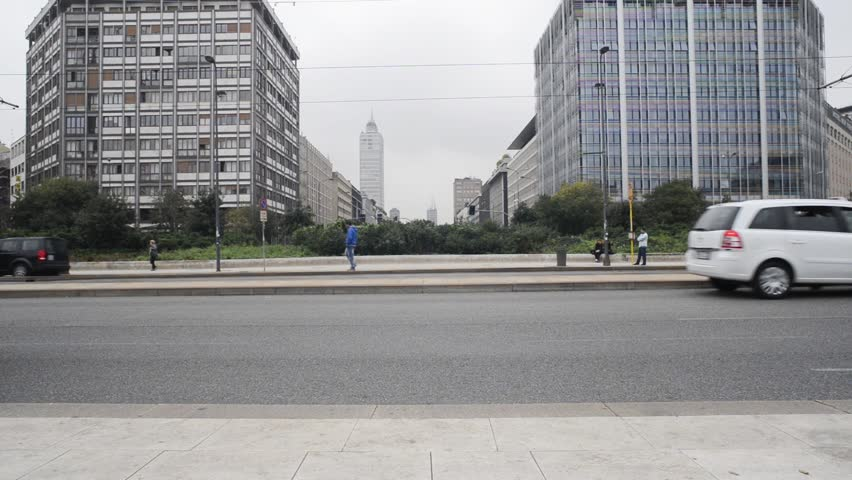 Business building and skyscrapers cityscape in milan | Shutterstock HD Video #4950605
