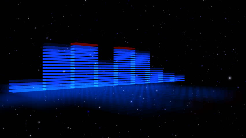 Wide Loopable HD 3D Spectrum Analyzer | Shutterstock HD Video #495187