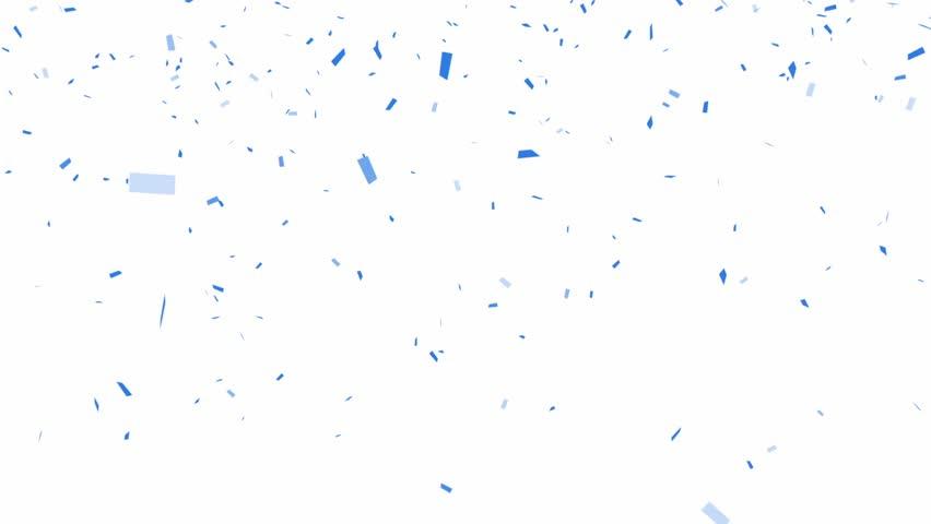 Blue Confetti - alpha channel included    Shutterstock HD Video #4959554