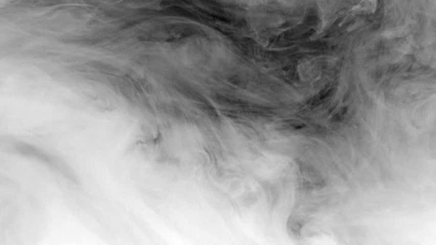 White Smoke Drifting On Black Backgroud