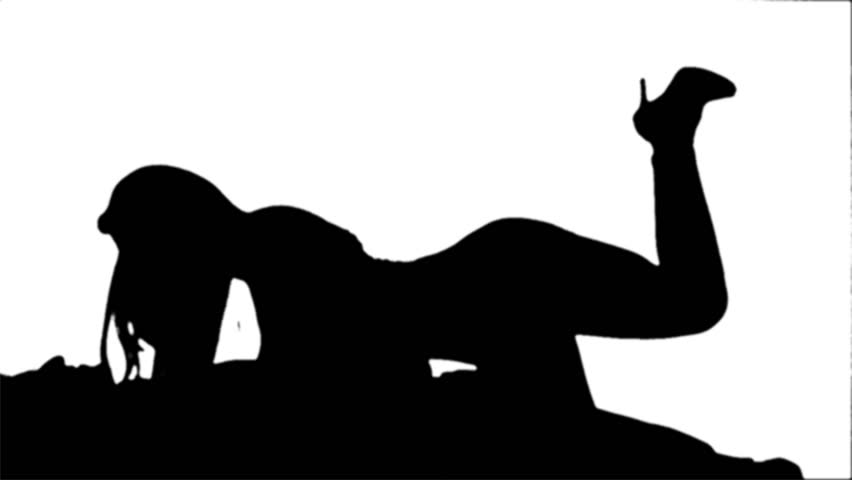 Sexy Couple Silhouette - 1080P Stock Footage Video 100 -1450