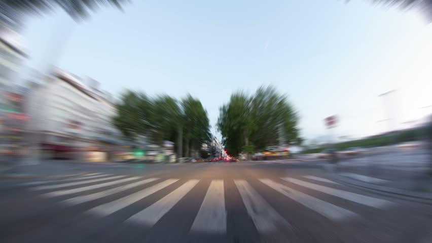 Driving time lapse through Lyon, France. pov  | Shutterstock HD Video #4976144