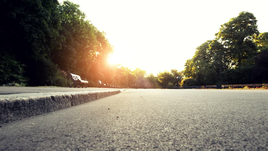 Road runner woman running in park in the morning motion track high definition video | Shutterstock HD Video #4982225