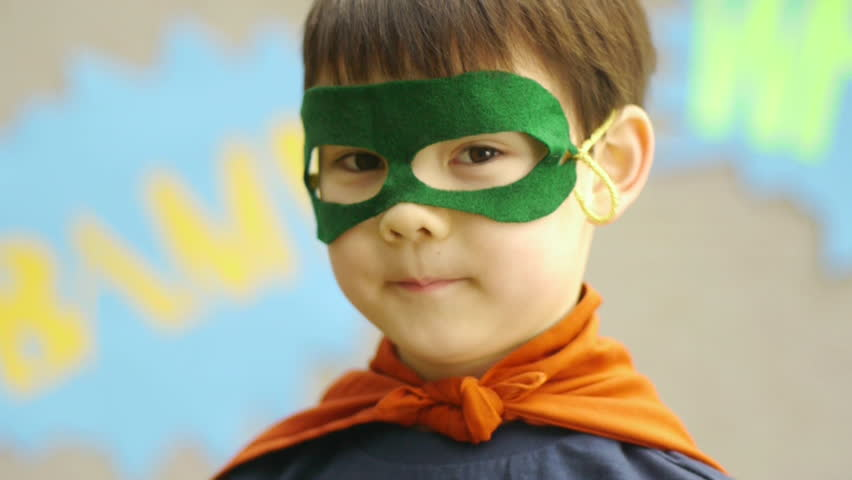 Superhero Boy Smiles For The Camera | Shutterstock HD Video #4986410