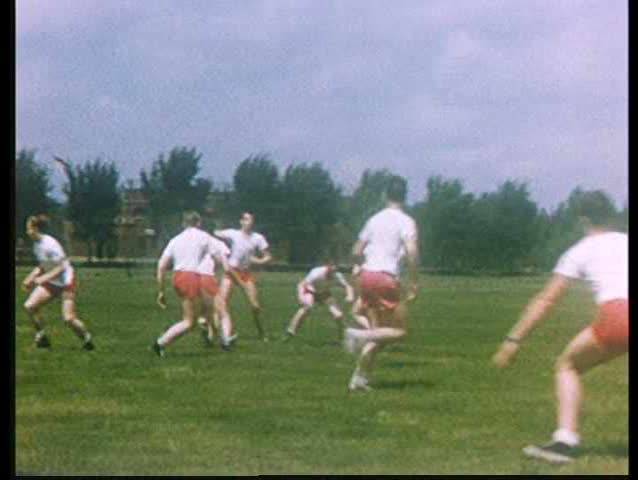 1950s - A very good montage of 1950s sports, at schools and professionally.
