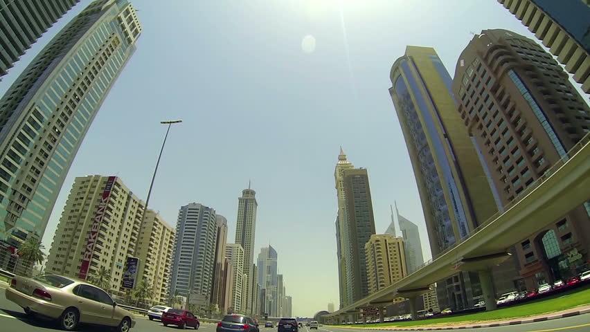 United Arab Emirates,Dubai-June 2013.Driving through Dubai streets,day light   Shutterstock HD Video #4991126