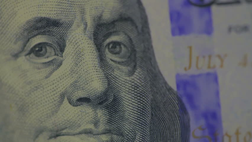 Security hologram on a new 100 dollar bill | Shutterstock HD Video #4996208