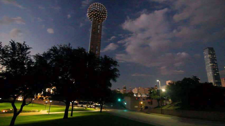 Scenic View of Downtown Dallas from park