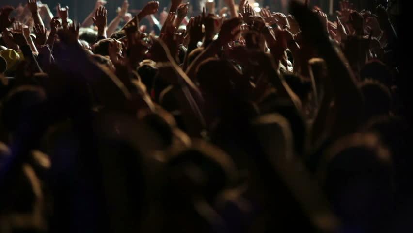Concert crowd, slow motion | Shutterstock HD Video #5019938