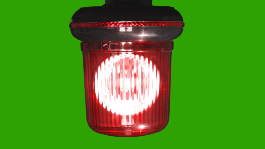 Red emergency light flashing with Alpha Channel-HD