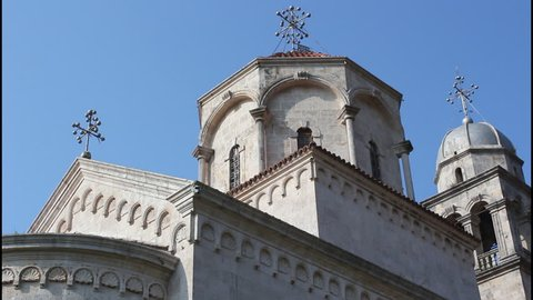 Monastery Savina, Montenegro, dome, pan right
