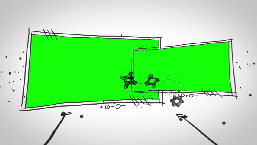 Green screens popping up on dotted white background | Shutterstock HD Video #5064014
