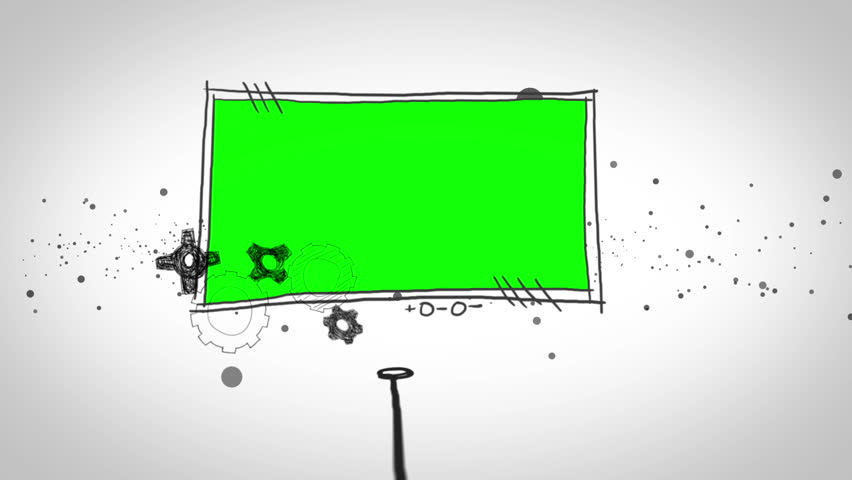 Two green screen popping up on dotted white background | Shutterstock HD Video #5064026