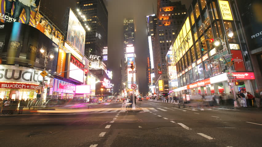 New York City, NY - November 24, 2008: Time lapse shot of Times Square traffic | Shutterstock HD Video #5064827